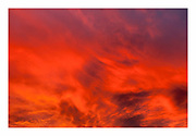 Sky of fire during dramatic sunset at Death Valley National Park, California