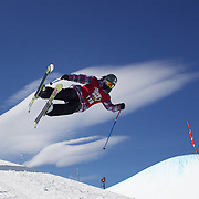 Rose Battersby, New Zealand, in action during her fifth place finish in the Women's Halfpipe Finals during The North Face Freeski Open at Snow Park, Wanaka, New Zealand, 3rd September 2011. Photo Tim Clayton....