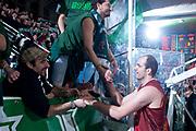 DESCRIZIONE : Avellino Lega A 2011-12 Sidigas Avellino Umana Venezia<br /> GIOCATORE : Szymon Szewczyk Tifosi Sidigas Avellino<br /> SQUADRA : Umana Venezia<br /> EVENTO : Campionato Lega A 2011-2012<br /> GARA : Sidigas Avellino Umana Venezia<br /> DATA : 15/01/2012<br /> CATEGORIA : saluto fine gara con tifosi, da ex giocatore di avellino<br /> SPORT : Pallacanestro<br /> AUTORE : Agenzia Ciamillo-Castoria/G.Buco<br /> Galleria : Lega Basket A 2011-2012<br /> Fotonotizia : Avellino Lega A 2011-12 Sidigas Avellino Umana Venezia<br /> Predefinita :