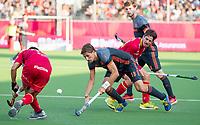 ANTWERPEN - Bjorn Kellerman (Ned)   tijdens  halve finale  mannen, Nederland-Spanje (3-4) ,  bij het Europees kampioenschap hockey. COPYRIGHT KOEN SUYK