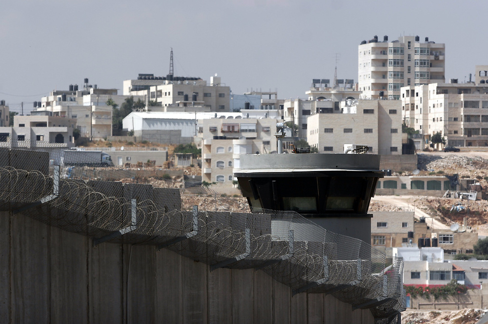 A section of the Israeli separation barrier on the northern outskirts of Jerusalem, on June 29, 2008.