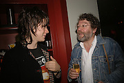 Moses Raine and Craig Raine, First night party after the opening of Rabbit by Nina Raine at the Old Red Lion Theatre, Islington. Groucho Club. 18 June 2006. ONE TIME USE ONLY - DO NOT ARCHIVE  © Copyright Photograph by Dafydd Jones 66 Stockwell Park Rd. London SW9 0DA Tel 020 7733 0108 www.dafjones.com