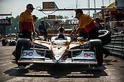 August 2011. Ryan Hunter Reay, Indycar Honda Grand Prix of Ohio at Mid Ohio Sportscar Course in Lexington, OH.