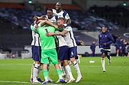 Tottenham Hotspur win on penalties and celebrates at full time Tottenham Hotspur goalkeeper Hugo Lloris (1) during the EFL Cup Fourth Round match between Tottenham Hotspur and Chelsea at Tottenham Hotspur Stadium, London, United Kingdom on 29 September 2020.