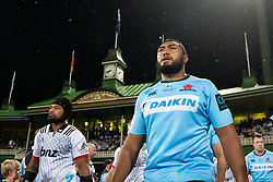 March 23, 2019 - Sydney, NSW, U.S. - SYDNEY, NSW - MARCH 23: Waratahs player Sekope Kepu (3) walks onto the field at round 6 of Super Rugby between NSW Waratahs and Crusaders on March 23, 2019 at The Sydney Cricket Ground, NSW. (Photo by Speed Media/Icon Sportswire) (Credit Image: © Speed Media/Icon SMI via ZUMA Press)