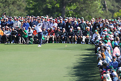 April 8, 2018 - Augusta, GA, USA - Rory Mcllroy tees off on eight during the final round of the Masters at Augusta National Golf Club on Sunday, April 8, 2018, in Augusta, Ga. (Credit Image: © Curtis Compton/TNS via ZUMA Wire)