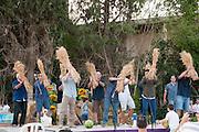 Israel, Shavuot celebration (End of Harvest season) at a Kibbutz. Photographed at Kibbutz Ashdot Yaacov, Israel