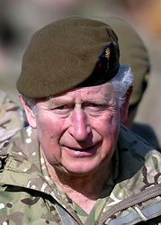 The Prince of Wales, Colonel Welsh Guards, attends Elizabeth Barracks in Woking to present campaign medals to soldiers from the 1st Battalion Welsh Guards following their return from Afghanistan.