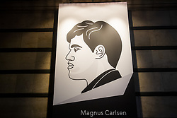 November 10, 2018 - London, GREAT BRITAIN - 181110 A portrait of Magnus Carlsen inside The College ahead of round 2 of The FIDE World Chess Championship 2018 on November 10, 2018 in London. .Photo: Fredrik Varfjell / BILDBYRÃ…N / kod FV / 150158 (Credit Image: © Fredrik Varfjell/Bildbyran via ZUMA Press)