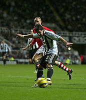 Photo: Andrew Unwin.<br /> Newcastle United v Charlton Athletic. The Barclays Premiership. 22/02/2006.<br /> Newcastle's Emre (R) fires a last-minute chance over the goal.