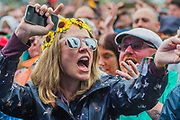 The Bootleg Beatles with the Pepperland Symphonia get the crowd singing along to Beatles classics - The 2017 Glastonbury Festival, Worthy Farm. Glastonbury, 24 June 2017