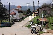 Greece, Macedonia, Antonios a small farming village the church in the centre