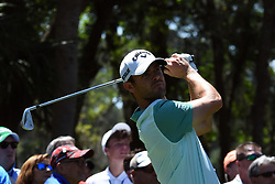 April 12, 2018 - Hilton Head Island, South Carolina, U.S. - HILTON HEAD ISLAND, SC - APRIL 12: Wesley Bryan, last years Champion, during the first round of the RBC Heritage on April 12, 2018 at Harbour Town Golf Links in Hilton Head Island, SC. (Photo by Theodore A. Wagner/Icon Sportswire) (Credit Image: © Theodore A. Wagner/Icon SMI via ZUMA Press)