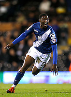 Birmingham City's Viv Solomon-Otabor celebrates scoring his side's fifth goal of the game
