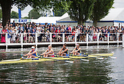 Henley Royal Regatta, Henley on Thames, Oxfordshire, 28 June - 2 July 2017.  Saturday  14:49:37   01/07/2017  [Mandatory Credit/Intersport Images]<br /> <br /> Rowing, Henley Reach, Henley Royal Regatta.<br /> <br /> The Princess Grace Challenge Cup<br />  Nottingham Rowing Club and Warrington Rowing Club