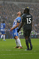 Football - 2017 / 2018 Premier League - Brighton and Hove Albion vs. Chelsea<br /> <br /> Tomer Hemed of Brighton yell out in frustration after his header was well saved at The Amex Stadium Brighton <br /> <br /> COLORSPORT/SHAUN BOGGUST