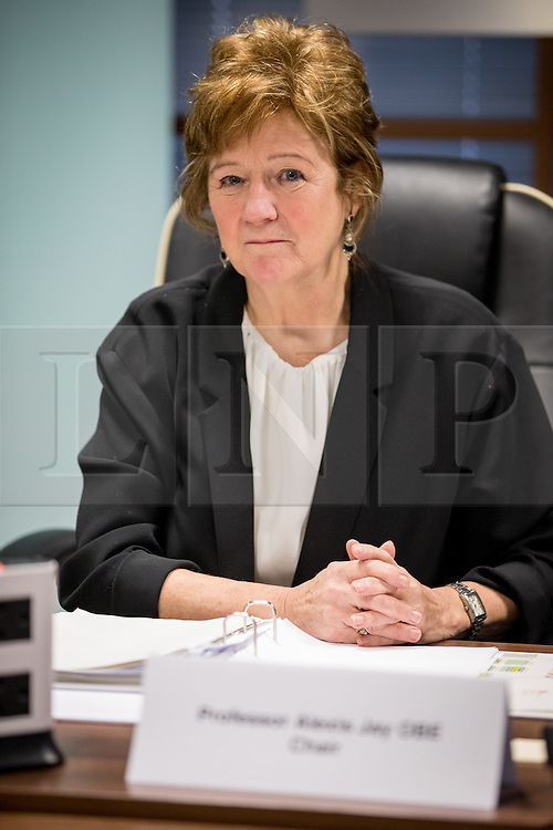 © Licensed to London News Pictures. 31/01/2017. London, UK. Chair of the Inquiry Professor ALEXIS JAY OBE. The Independent Inquiry into Child Sexual Abuse (IICSA) holds a preliminary hearing at the International Dispute Resolution Centre (IDRC), as part of its investigation into the protection of children outside the UK. Today's session comes ahead of a public hearing on the investigation's case study, due to be held on 27 February 2017.<br /> Photo credit : Tom Nicholson/LNP