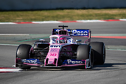 February 26, 2019 - Montmelo, BARCELONA, Spain - BARCELONA, SPAIN, 26th of February 2019. #18 Lance STROLL driver of Racin Point F1 team during the winter test at Circuit de Barcelona Catalunya. (Credit Image: © AFP7 via ZUMA Wire)