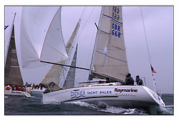 The second days racing at the Bell Lawrie Yachting Series in Tarbert Loch Fyne ...Strong winds, high seas and heavy rain dominated the day...Nigel Biggs helming First 31.7  Checkmate GBR66R.