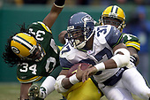 NFL-NFC Wild Card-Seattle Seahawks at Green Bay Packers-Jan 4, 2004