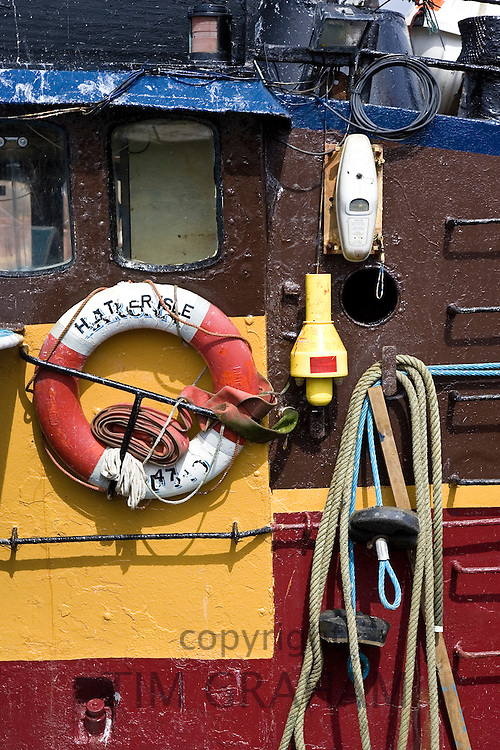 Trawler fishing boat cabin in Stornoway, Outer Hebrides, United Kingdom
