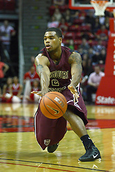 12 February 2011: Nafis Ricks during an NCAA Missouri Valley Conference basketball game between the Missouri State Bears and the Illinois State Redbirds at Redbird Arena in Normal Illinois.