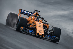 March 1, 2018 - Barcelona, Catalonia, Spain - STOFFEL VANDOORNE (BEL) drives in his McLaren MCL33 during day four of Formula One testing at Circuit de Catalunya (Credit Image: © Matthias Oesterle via ZUMA Wire)