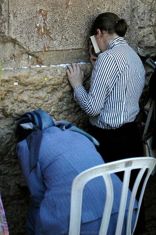 Prières, mur des lamentations, Jérusalem.