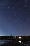 Greenville, New York - Stars in the night sky on March 12, 2015.