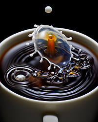 Coffee And Milk Droplet Collision
