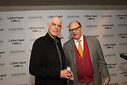 RICHARD LONG, NICHOLAS LOGSDAIL at the Whitechapel Gallery Art Icon 2015 Gala dinner supported by the Swarovski Foundation. The Banking Hall, Cornhill, London. 19 March 2015