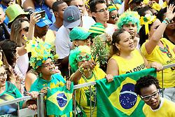 June 22, 2018 - Salvador, Brazil - SALVADOR, BA - 22.06.2018: TORCIDA DO BRASIL EM SALVADOR - Olodum in Pelourinho, in Salvador, Bahia, during a game between Brazil and Costa Rica, valid for the 2018 World Cup in Russia. (Credit Image: © Mauro Akin Nassor/Fotoarena via ZUMA Press)