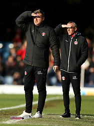 Charlton Athletic manager Karl Robinson (left) and assistant manager Lee Bowyer