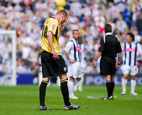 Photo: Leigh Quinnell.<br /> West Bromwich Albion v Barnsley. Coca Cola Championship. 06/05/2007. Barnsleys Luke Potter feels the pain of a seven nil defeat.