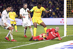 January 30, 2019 - Nantes, France - 16 STEPHANE RUFFIER (ASSE) - 07 KALIFA COULIBALY  (Credit Image: © Panoramic via ZUMA Press)