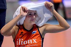 09-01-2016 TUR: European Olympic Qualification Tournament Rusland - Nederland, Ankara<br /> De Nederlandse volleybalsters hebben de finale van het olympisch kwalificatietoernooi tegen Rusland verloren. Oranje boog met 3-1 voor de Europees kampioen (25-21, 22-25, 25-19, 25-20) / Laura Dijkema #14