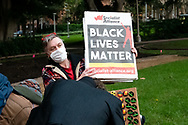 Socialist Alliance organisation at Hyde Park during a 'Black Lives Matter' rally on 02 June, 2020 in Sydney, Australia. This event was organised to rally against aboriginal deaths in custody in Australia as well as in unity with protests across the United States following the killing of an unarmed black man George Floyd at the hands of a police officer in Minneapolis, Minnesota. (Photo by Lucca Markham/ Speed Media)