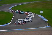 2012 FIA GT1 World Championship.Donington Park, Leicestershire, UK.27th - 30th September 2012.Start for the qualifying race at Donington. ..World Copyright: Jamey Price/LAT Photographic.ref: Digital Image Donington_FIAGT1-18793