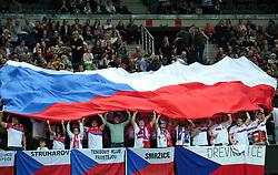 February 10, 2018 - Prague, Czech Republic - Fans of Czech Republic during in their Fed Cup match between Czech Republic v Switzerland in Prague, Czech Republic, February 10, 2018. (Credit Image: © Slavek Ruta via ZUMA Wire)