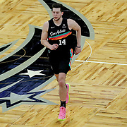 ORLANDO, FL - APRIL 12: Drew Eubanks #14 of the San Antonio Spurs is seen during a game against the Orlando Magic at Amway Center on April 12, 2021 in Orlando, Florida. NOTE TO USER: User expressly acknowledges and agrees that, by downloading and or using this photograph, User is consenting to the terms and conditions of the Getty Images License Agreement. (Photo by Alex Menendez/Getty Images)*** Local Caption *** Drew Eubanks