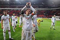 Fotball<br /> Tyskland<br /> Foto: Witters/Digitalsport<br /> NORWAY ONLY<br /> <br /> Schlussjubel Clemens Fritz (Bremen)<br /> Leverkusen, 09.02.2016, Fussball DFB-Pokal Viertelfinale, Bayer 04 Leverkusen - SV Werder Bremen 1:3