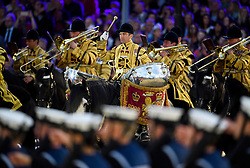© Licensed to London News Pictures. 15/05/2016. Windsor, UK.  An evening event held at the Royal Windsor Horse show to celebrate the 90th birthday of HRH Queen Elizabeth II. Acts from arounds the world have been invited to perform at the evening event, set in the grounds of Windsor Castle. Photo credit: Ben Cawthra/LNP