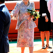 Koningsdag 2014 in de Rijp, het vieren van de verjaardag van de koning. / Kingsday 2014 in the Rijp , celebrating the birthday of the King. <br /> <br /> <br /> Op de foto / On the photo:   Prinses Beatrix / Princess Beatrix