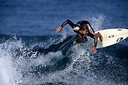 Teen male surfer