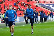 Tottenham Hotspur midfielder Dele Alli (20) warms up before kick off during the Premier League match between Tottenham Hotspur and West Bromwich Albion at Wembley Stadium, London, England on 25 November 2017. Photo by Andy Walter.