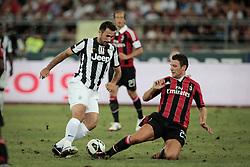 Bari (BA) 21.07.2012 - Trofeo Tim 2012. Juventus - Milan. Nella Foto: Vucinic (J) e Bonera (M)