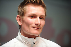 02.02.2011, Omega Pharma, Adegem, BEL, official presentation to the press of Belgian cycling team Omega Pharma-Lotto, im Bild German Andre Greipel of Omega Pharma-Lotto pictured during the official presentation to the press of Belgian cycling team Omega Pharma-Lotto, Wednesday 02 February 2011, in Adegem. EXPA Pictures © 2011, PhotoCredit: EXPA/ nph/  Laurent Dubrule        ****** out of GER / SWE / CRO  / BEL ******
