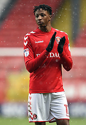 Charlton Athletic's Joe Aribo applauds the fans after the final whistle