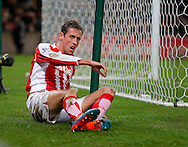 Dejection for Peter Crouch following a late miss - Football - Barclays Premier League - Stoke City vs Burnley - Britannia Stadium Stoke - Season 2014/2015 - 22nd November 2015 - Photo Malcolm Couzens /Sportimage
