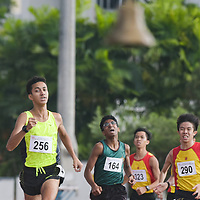 Syed Hussein Aljunied (#256) of Victoria Junior College racing down the finishing line during the A Division boys' 1500m race (Photo © Stefanus Ian).